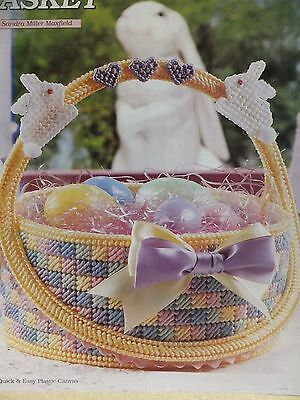 Pretty and Fancy Easter Basket  Pattern(s) in Plastic Canvas