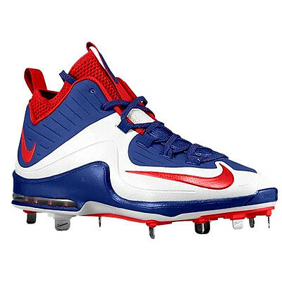 Nike Air Max MVP Elite 2 Baseball Cleats Size 13 Red White Blue