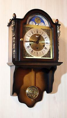 Westminster Wall Clock Cuppercarved Dial Moonphase Urgos