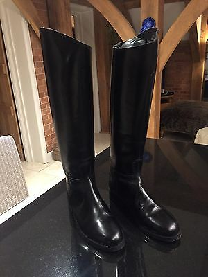 Mens Leather Long Riding Boots Size 10