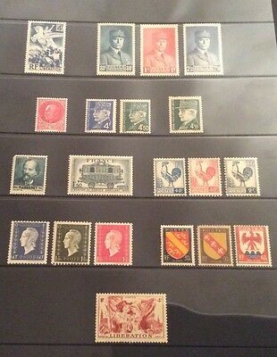 France 1940s mint stamps