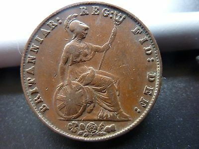 1857 Half Penny Young Head Victoria Coin