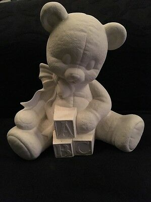 Paint Your Own Ceramic Bisque / Pottery - ABC Teddy