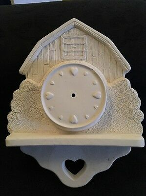 Paint Your Own Ceramic Bisque / Pottery - Wall Click With Hearts