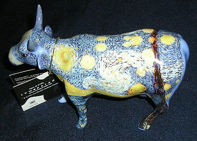 Cow Parade *Retired* Van Gogh's Starry Starry Cow with box