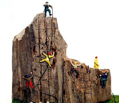 6 Assorted Rock Climbers N Scale Unpainted Metal Model Kit Railway Layout A104