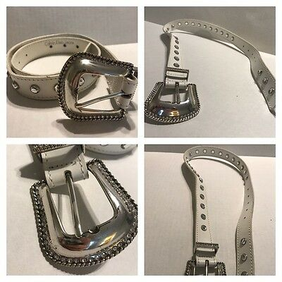 Calvin Klein Jeans Studded Genuine Leather Belt Women's Size Small