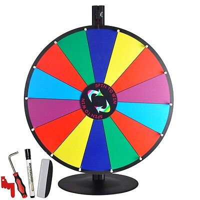 """24"""" Tabletop Color Dry Erase Prize Wheel +Stand Fortune Spinning Game Tradeshow"""