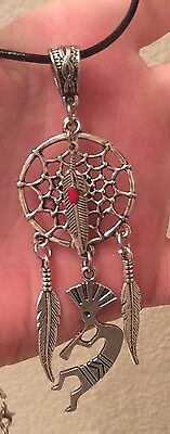 Native American Dream Catcher,kokopelli,feather,charm,necklace+Choices