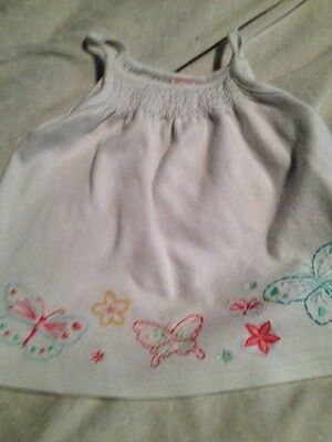 Gymboree 18-24 Month Girls Baby White Embroidered Butterfly Shirt