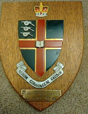 Vintage Royal Military College of Science ROYAL ARTILLERY PLAQUE SHIELD 1965