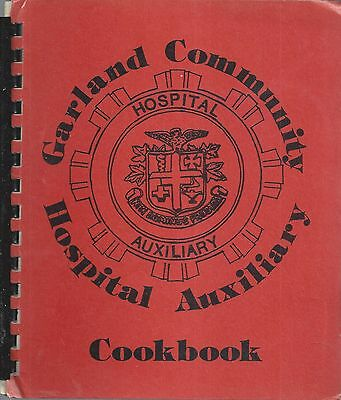 *garland Tx 1982 Community Hospital Auxiliary Cook Book *texas Community Recipes