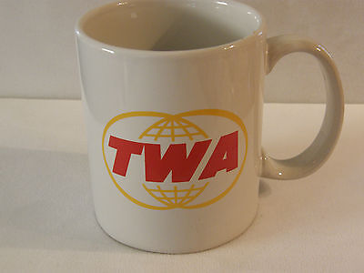Trans World Airlines Twa Coffee Cup Mug Airplane F/a Pilot Nice Fathers Day Gift
