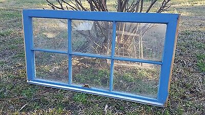Vintage Sash Antique Wood Window Frame Pinterest Rustic 6 Pane Cottage 36X19