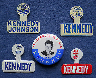 1960 campaign John F. KENNEDY President button pinback pins Prosperity For All