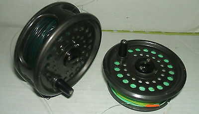 INTREPID RIMFLY KING SIZE FLY FISHING REEL with EXTRA SPOOL