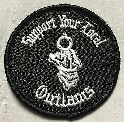 Outlaws MC SYLO AOA Support Your Local Outlaws Small Round Patch