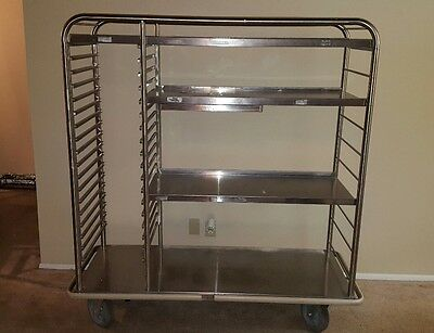 Stainless Steel Banquet Hospital Cart with Shelves