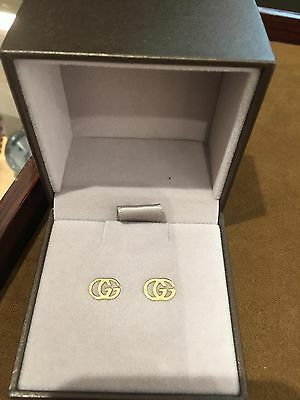 Gucci tissue stud earrings 18K yellow gold Authentic