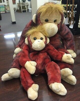 """""""SCHWEETHEART"""" TY BEANIE BUDDIE RARE - EXTRA LARGE 27"""" MONKEY With Little One"""