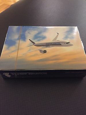Singapore Airlines A350 playing cards