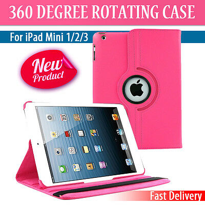 Leather 360 Degree Rotating Smart Case Cover For APPLE iPad mini 1 2 3  (P080