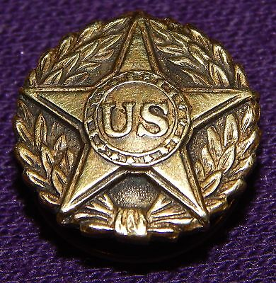 Vntg Bronze World War I Army Military Star Wreath Shirt Honorable Discharge Pin