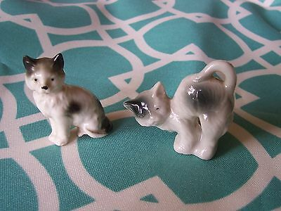 Miniature Collectible Cats Figurine Set 100% to Animal Outreach Society #117