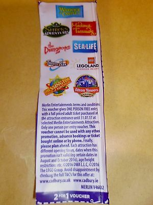 * * 2 For 1 Merlin Entertainments Theme Parks/Attractions Voucher * *