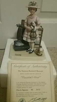 """Norman Rockwell Figurine - """"Vacations Over"""" 1981"""