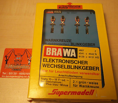 Rarity: Brawa Super model N 4541 4 Warning crosses with Flasher unit