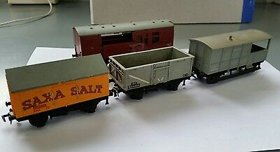 Hornby dublo 00 scale Vintage rake 4 wagons