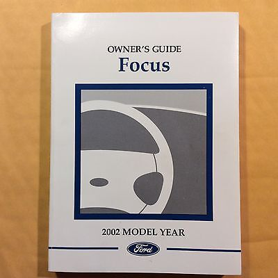 2002 Ford Focus Owners Manual FREE DELIVERY TO USA AND CANADA