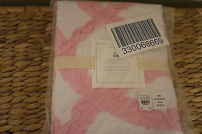 NWT Pottery Barn Kids Ruffle Shower Curtain Sold out NWT Super Cute Pink