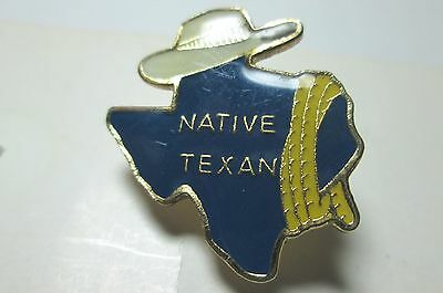 Vintage Hat/Tie Tack  State of Texas Map Hat Yellow Ribbon