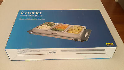 LUMINA Food Warming Tray Buffet Server Hot Plate Warmer Kitchen never used