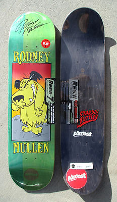 """RODNEY MULLEN autographed ALMOST Skateboard Deck 8"""" MUTTLEY powell peralta RARE"""