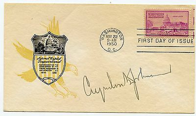 President LYNDON B. JOHNSON Signed First Day Cover Cachet   KOA Authenticated