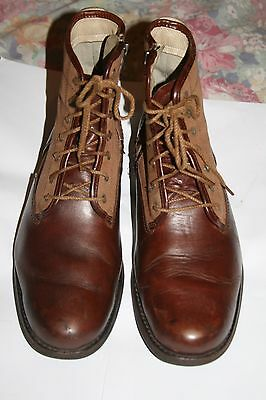 Timberland Brown Leather Lace-Up Ankle Mens Boots Size 9.5 Uk