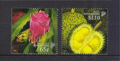 Singapore 2008 Vietnam Joint Issue (Durian & Dragon Fruit) Comp. Set 2 Stamp Mnh
