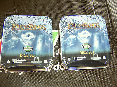 Lord of the Rings TMG Dice Set  *New & Sealed* you get 2 Dice Sets