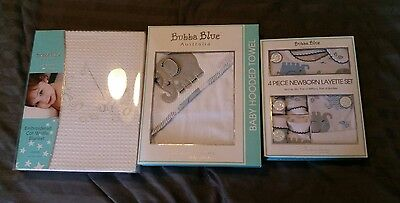 Brand New Bubba Blue newborn gift set, towel and waffle blanket RRP over $100!!