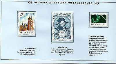 Stamps Denmark/russia Joint Issue Folder Rare