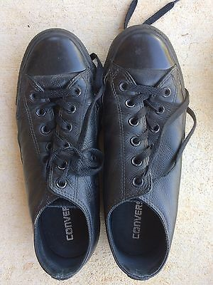 converse leather black Size 7