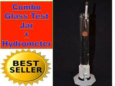 Combo Alcohol Wine Moonshine Still Hydrometer Proof Scale + Glass Test Jar 96%