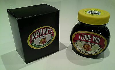 """Boxed Christmas MARMITE Jar """"I Love You - For Being Nice""""  (250g) BBE July 17"""