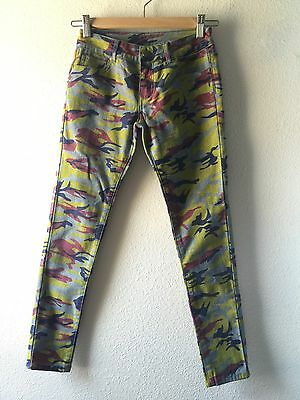 #134 New Unisex Camouflage Camo Casual Everyday Mint/ Purple/Blue Pant Sz7/8
