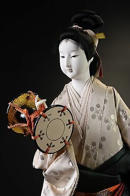 Japanese Kyoto Old Style Geisha  Doll  /   Traditional percussion Doll