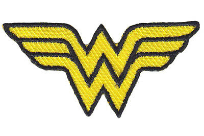Wonder Woman Logo DC Comics Embroidered Iron/Sew On Patch 2""
