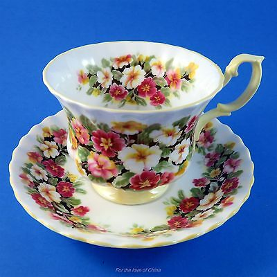 Royal Albert Fragrance Series Primula Tea Cup and Saucer Set